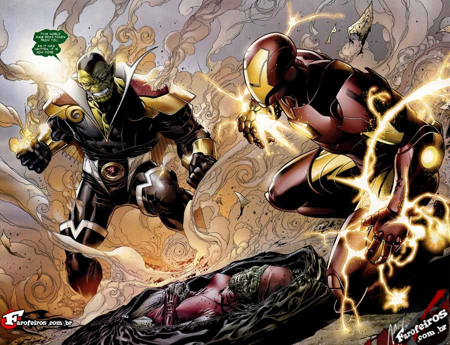 Skrull vs Iron Man
