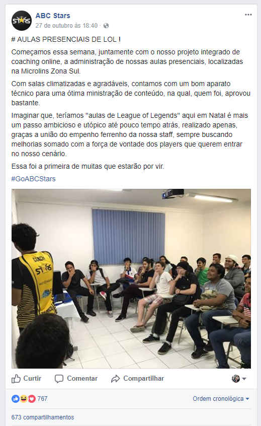 Aula de League of Legends