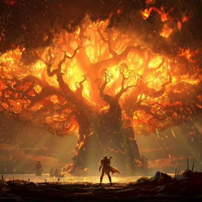 World of Warcraft na Blizzcon 2017 - Aumento nos preços de World of Warcraft - Battle for Azeroth -Teldrassil antes de pegar fogo