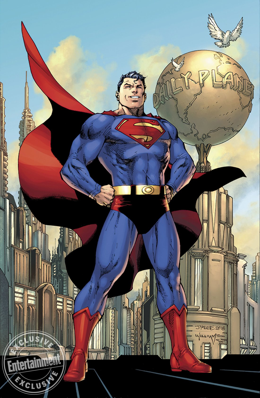 A cueca do Superman sempre é assunto - Action Comics #1000 - Jim Lee