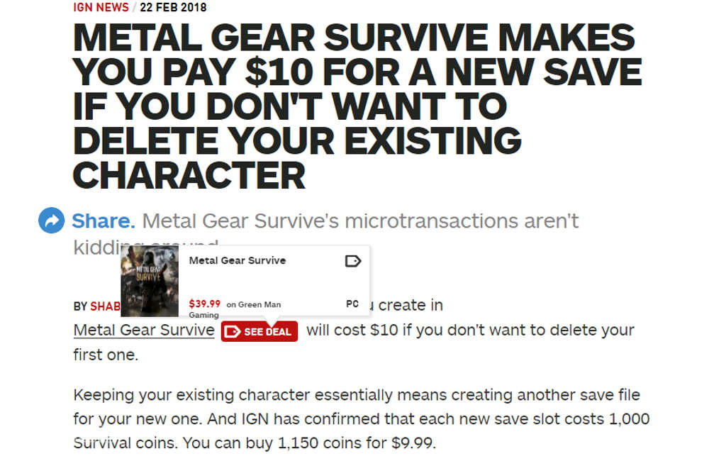Save game de Metal Gear Survive - IGN