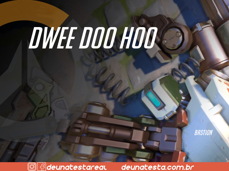 Motivação de Overwatch com frases dos personagens do game - Blog Farofeiros - Bastion