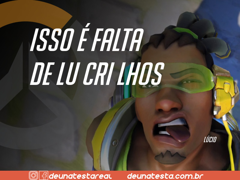 Motivação de Overwatch com frases dos personagens do game - Blog Farofeiros  - Lúcio