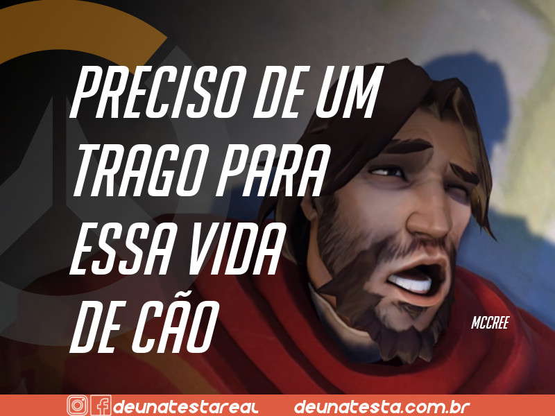 Motivação de Overwatch com frases dos personagens do game - Blog Farofeiros  - McCree