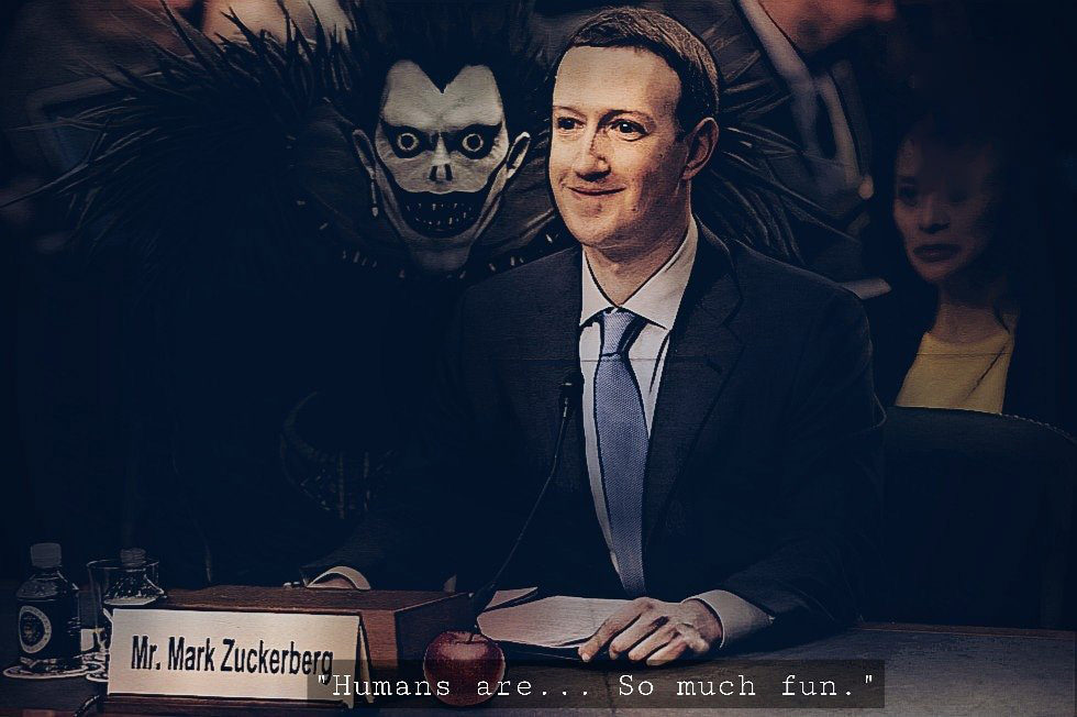 Nem sei o que falar - Mark Zuckerberg - Death Note