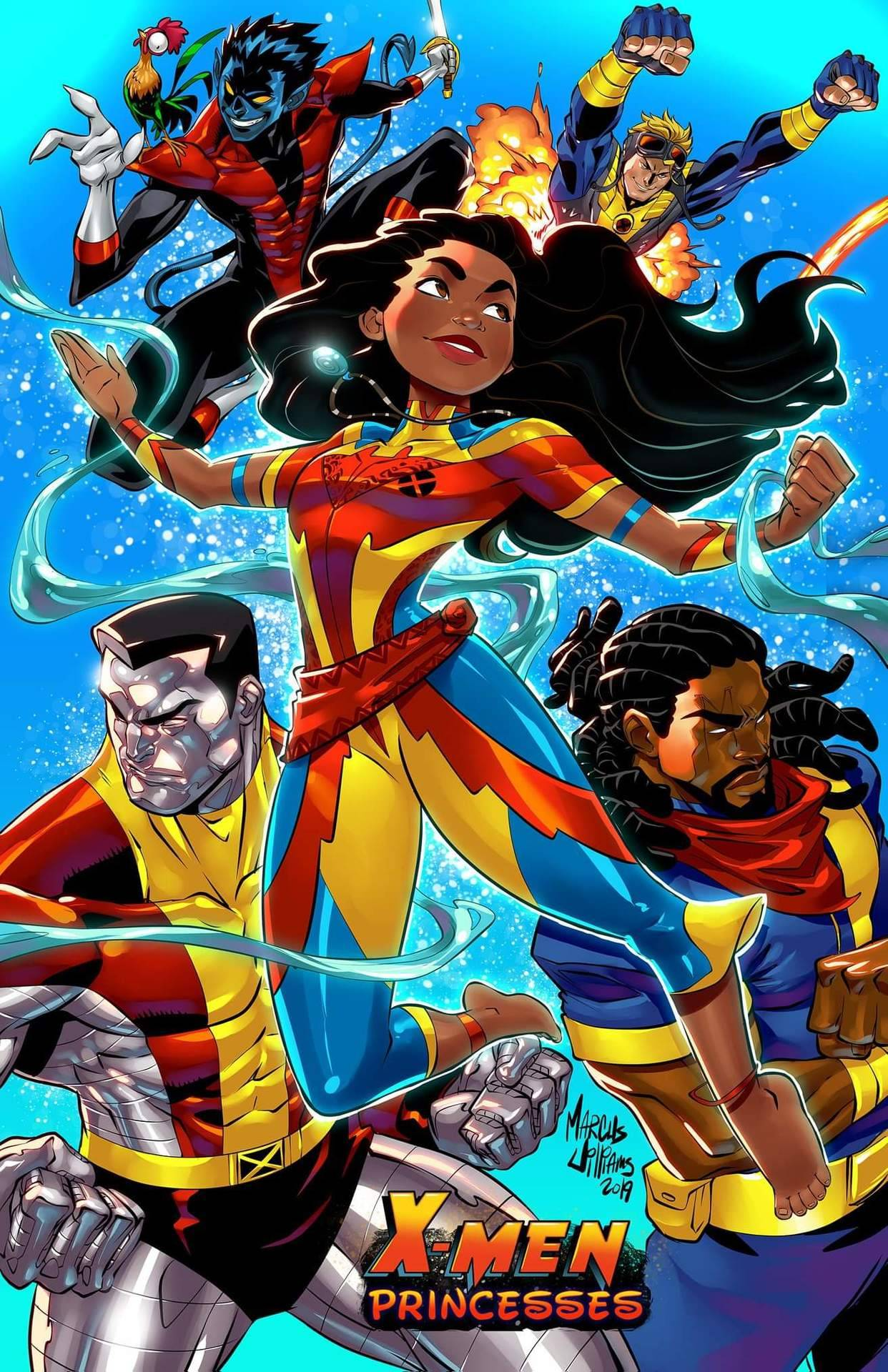 Bishop - Colossus - Noturno - Missil - Moana - Quando X-Men e Princesas Disney se encontram - MarcusTheVisual - Blog Farofeiros