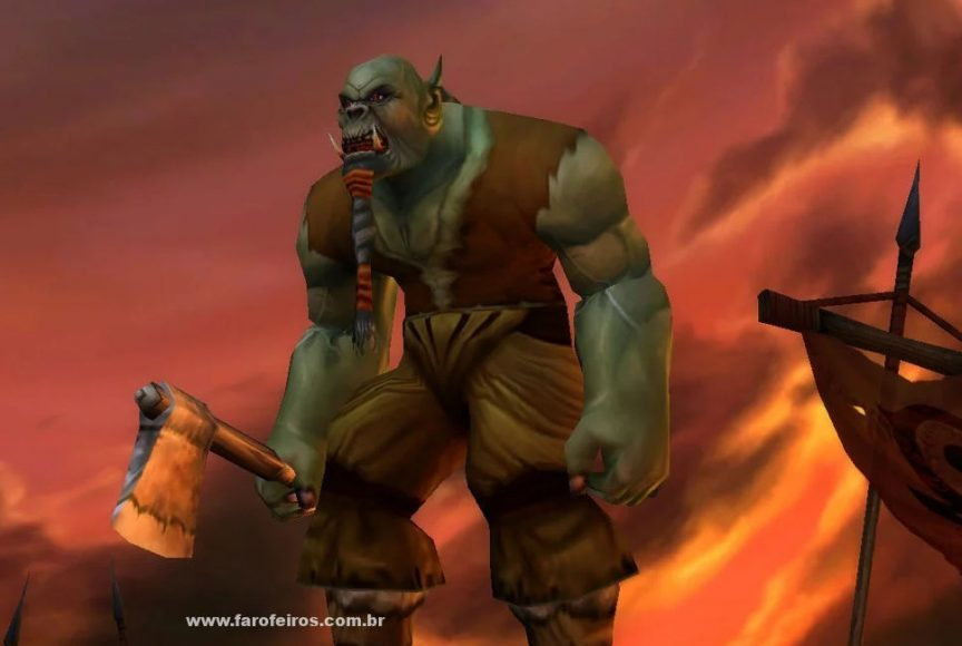 Orc - World Of Warcraft Classic aumentou o número de assinantes do jogo - Blizzard - WoW Classic - Blog Farofeiros