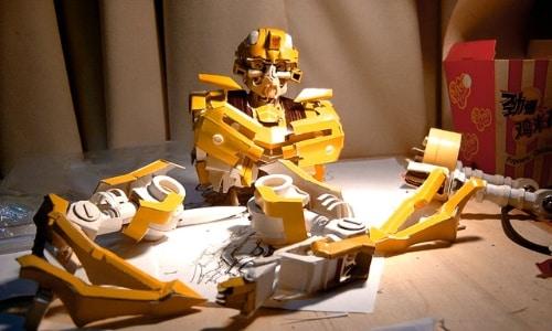 O papelão que virou o BumbleBee - Transformers - 1 - Blog Farofeiros