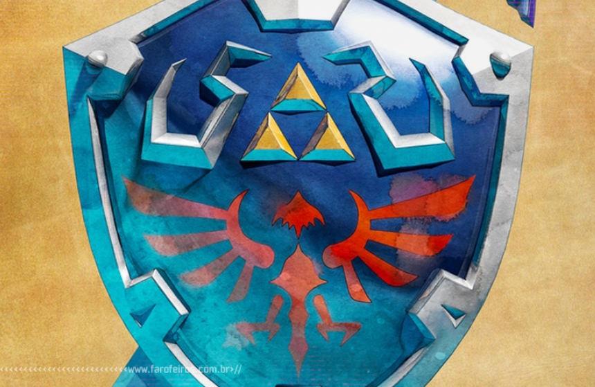 Pen drive do escudo de Hyrule de The Legend of Zelda - Blog Farofeiros