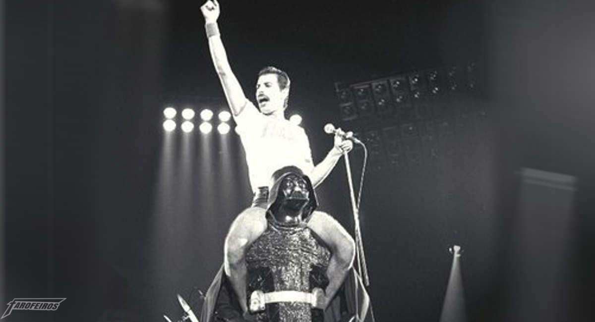 Freddie Mercury junto de Darth Vader não poderia ser menos ÉPICO