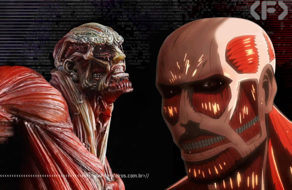 Estátua de Attack On Titan - Blog Farofeiros