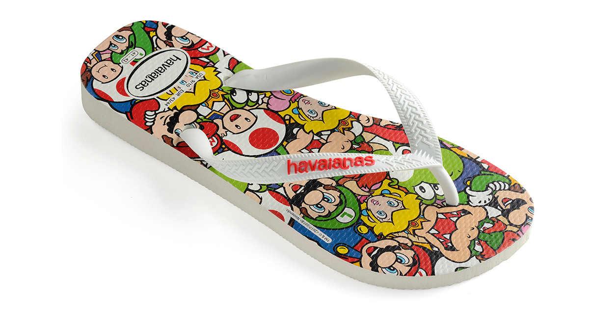 Chinela do Super Mario