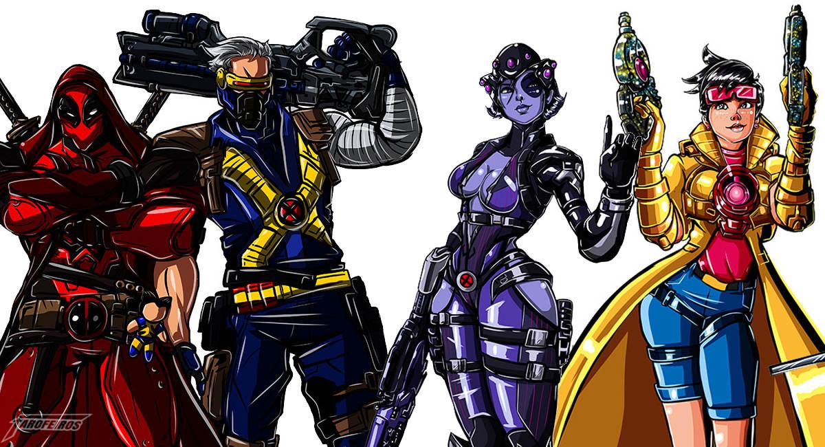 Overwatch com visuais dos X-Men