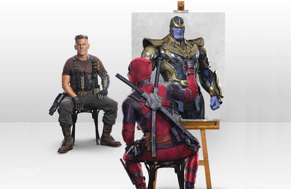 Deadpool pintando Cable do jeito certo