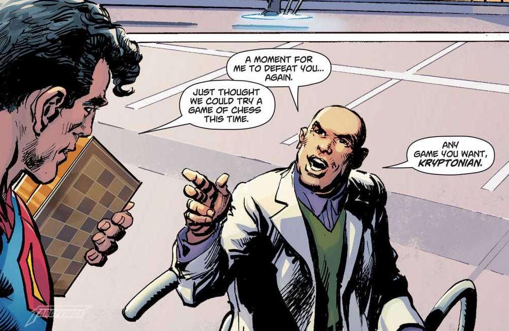 Action Comics #1000 - Superman vs. Lex Luthor no xadrez