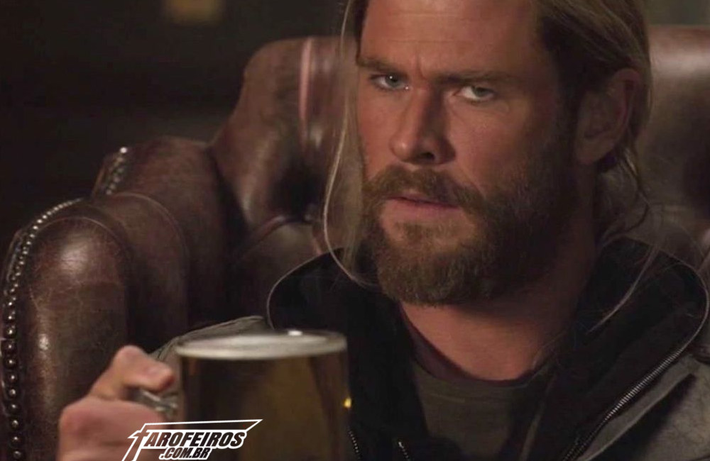 Vingadores bebendo - Thor - Blog Farofeiros