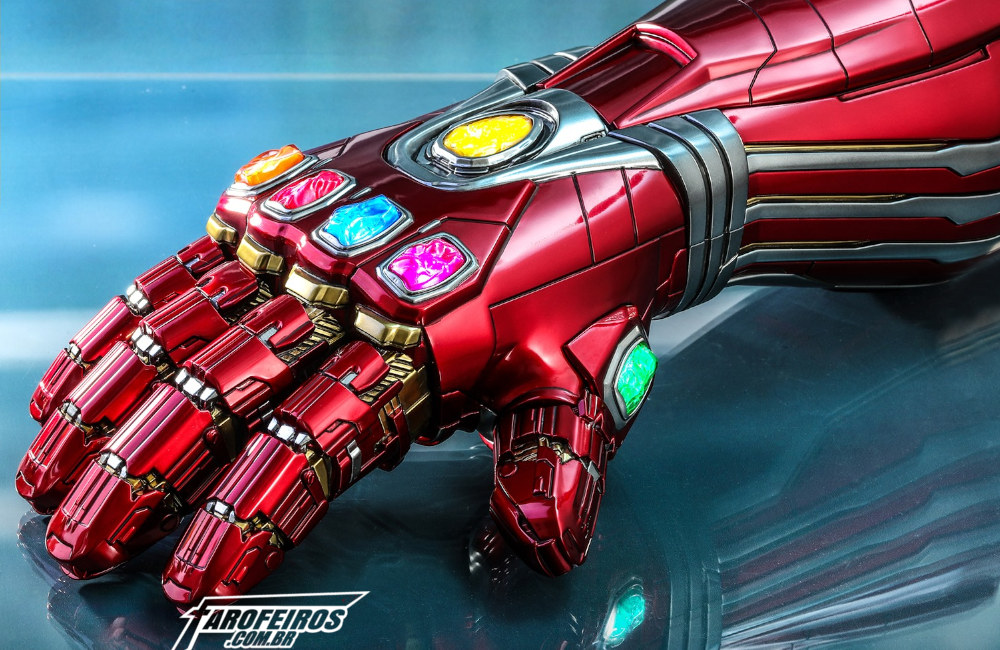 Nano Gauntlet - Manopla de Tony Stark - Vingadores - Ultimato - Tamanho real - Blog Farofeiros - 00