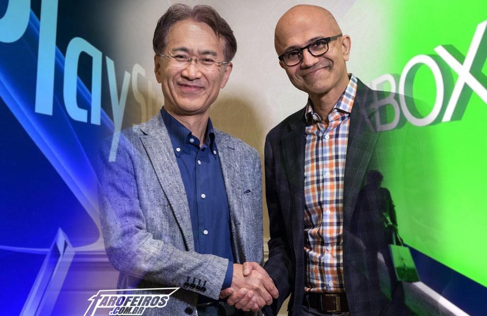 Sony e Microsoft contra o Google - Games - Kenichiro Yoshida - Satya Nadella - Blog Farofeiros