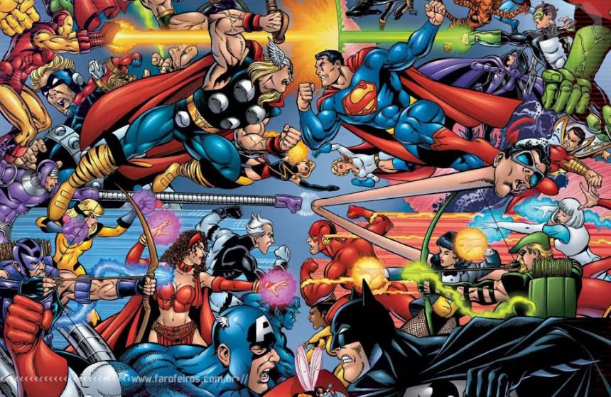Novo Marvel Versus DC - Vingadores - Liga da Justiça - Blog Farofeiros